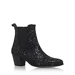 KG Kurt Geiger - Black 'Razzle' High Heel Ankle Boots