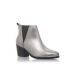 Carvela - Silver 'Slicker' high heel ankle boots