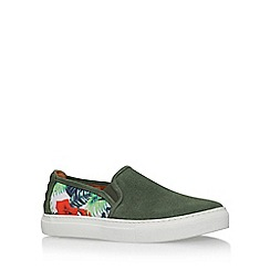 KG Kurt Geiger - Green 'Carrey' flat slip on sneaker