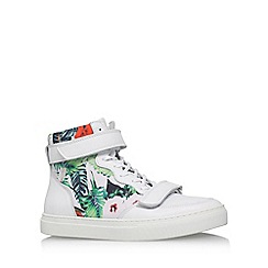 KG Kurt Geiger - White 'Cassey' flat high top sneaker