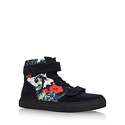 KG Kurt Geiger - Blue 'Cassey' flat high top sneaker