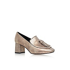 KG Kurt Geiger - Gold 'Alexa' Mid Heel Loafers
