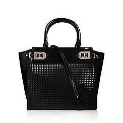 Nine West - Black 'Gleam Team' satchel lg handbag with shoulder straps