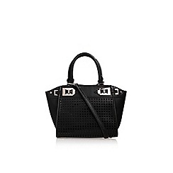 Nine West - Black 'Gleam Team' mini satchel handbag with shoulder straps
