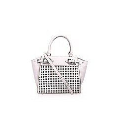 Nine West - White 'Gleam Team' mini satchel handbag with shoulder straps