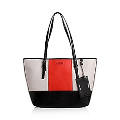 Nine West - White 'Ava' tote handbag with shoulder straps