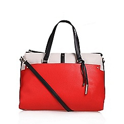 Nine West - White 'Pockets A Plenty' satchel handbag with shoulder straps
