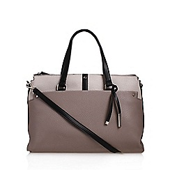 Nine West - Grey 'Pockets A Plenty' satchel handbag with shoulder straps