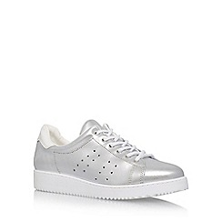 Carvela - Silver 'Latitude' flat lace up sneakers