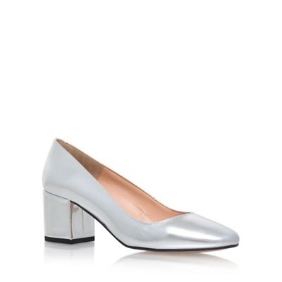 Carvela Silver Auntie High Heel Court Shoes