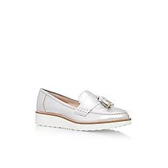 Carvela - Silver Limbo Low Heel Slip On Loafers