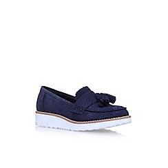 Carvela - Blue Limbo flat slip on loafers