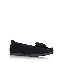 Carvela Comfort - Black 'Cindy' Flat Slip On Loafers