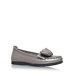 Carvela Comfort - Grey 'Cindy' Flat Slip On Loafers