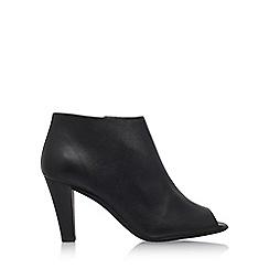 Carvela Comfort - Black 'Reece' High Heel Peep Toe Boot
