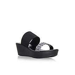 Solea - Black 'Saffy' mid heel sandals