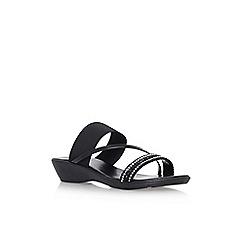 Solea - Black 'Sofia' low heel sandals