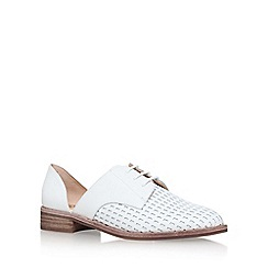 Vince Camuto - White 'Rosan' Flat Lace Up Shoes