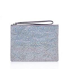 Carvela - Silver 'Gaye' clutch bag