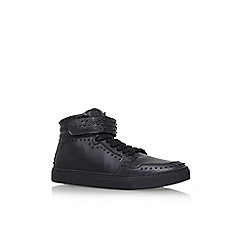 KG Kurt Geiger - Black 'Anderson' flat lace up sneakers