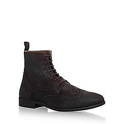 KG Kurt Geiger - Brown 'Howarth' flat lace up boots
