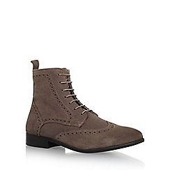 KG Kurt Geiger - Brown 'Howarth' flat lace up boots