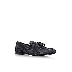 KG Kurt Geiger - Black 'Joachim' flat slip on tassel loafer