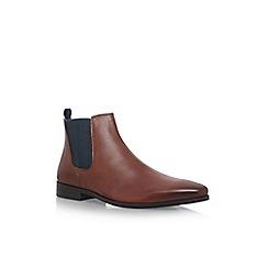 KG Kurt Geiger - Brown 'Baxter' flat chelsea boots