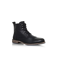 KG Kurt Geiger - Black 'Winston' flat lace up boots