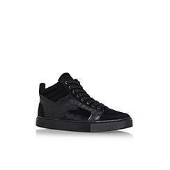 KG Kurt Geiger - Black 'Kurtis Hi Top' flat lace up sneakers