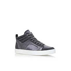 KG Kurt Geiger - Grey 'Kurtis Hi Top' flat lace up sneakers