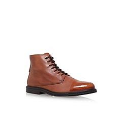 KG Kurt Geiger - Brown 'Chalker' flat boots
