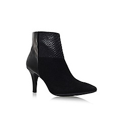 Anne Klein - Black 'Yarisol' mid heel zip up ankle boot