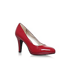 Anne Klein - Red 'Lolana' high heel court shoes