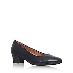 Carvela Comfort - Black 'Aero' mid heel court shoes