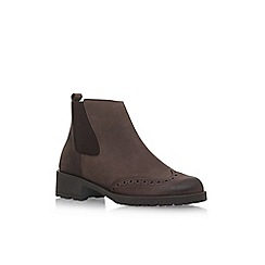 Carvela Comfort - Brown 'Russell' flat slip on ankle boot