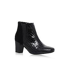 Carvela Comfort - Black 'Reed' suede croc print shoes