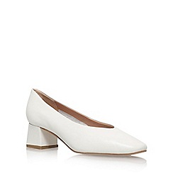 Carvela - White 'Antidote' High Heel Court Shoes