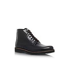 KG Kurt Geiger - Black 'Moore' flat lace up boots