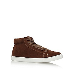 KG Kurt Geiger - Brown 'Finley' flat lace up sneakers
