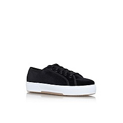 Miss KG - Black 'Lavin' flat lace up sneakers