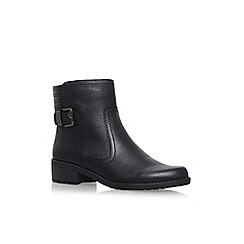 Anne Klein - Black 'Lanette' flat biker boots