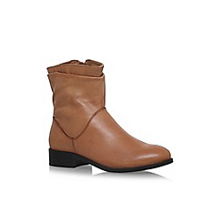 Carvela - Brown Tick flat biker boots