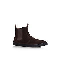 KG Kurt Geiger - Brown 'Bison' flat chelsea boots