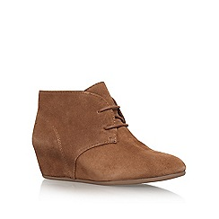 Nine West - Beige 'Joanis' mid heel wedge boots