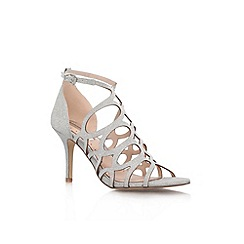 Miss KG - Silver 'Glide' high heel sandals