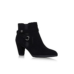 Anne Klein - Black Suede 'Chelsey' high heel ankle boots