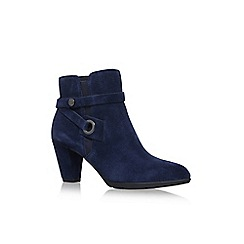 Anne Klein - Blue Suede 'Chelsey' high heel ankle boots
