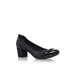 Anne Klein - Black 'Guardian' low heel court shoes