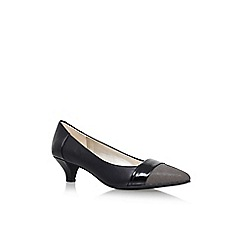 Anne Klein - Black 'Mckinley' low heel court shoes